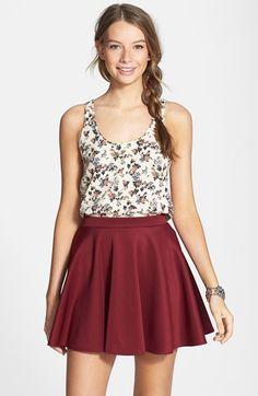 Frenchi® Skater Skirt (Juniors) available at #Nordstrom