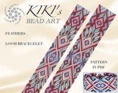 Bead loom pattern  Singular perception  cubic geometric