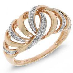 0.17ct 14k Rose Gold Diamond Lady's Ring - Allurez.com