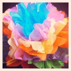 Mothers day tissue paper flower for the table settings