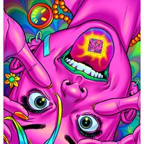 Buy directly from the world's most awesome indie brands. Or open a free online store. on Storenvy Cartoon Kunst, Cartoon Art, Trippy Drawings, Art Drawings, Arte Hippy, Cover Art, Dope Kunst, Lsd Art, Arte Dope