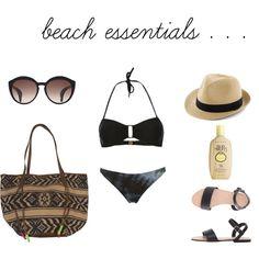 my beach essentials via akikoandcaptain.blogspot