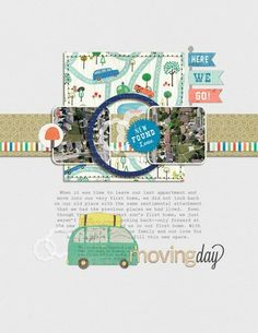 Ideas for using Juvenile Print Patterns on Scrapbook Layouts | Amy Kingsford | Get It Scrapped