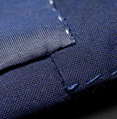 """FACING AND LINING IN SEAM: """"We attach the facing and lining a good distance from the seam of the jacket so that the [contrasting] lining at these points is never visible when the jacket is worn."""" --Tailor Made London, Traditional Craft"""