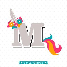 Create something unique for someone special with this adorable Letter MUnicorn SVG file, perfect for all your DIY projects or handmade business product lines.You can create shirts, mugs, tumblers, cards, party decor and more for yourself, for others, or to resell with this Unicorn Monogram SVG. This listing is for an INSTANT DOWNLOAD of DIGITAL FILES that you download and can use right away! YOU WILL RECEIVE: 1 SVG cut file : 1 DXF cut file : 1 EPS layered file : 1 PNG file : 1 JPG file…