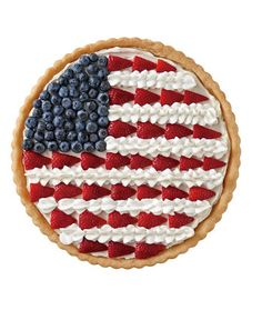 Patriotic Cookie Pizza - If using strawberry cream cheese spread instead of plain, omit the sugar.