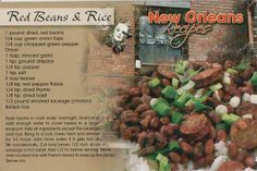 Red Beans & Rice Recipe postcard