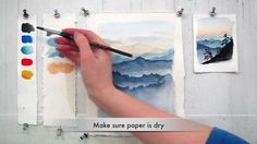 Easy step by step watercolor tutorial: Painting The Blue Ridge Mountains