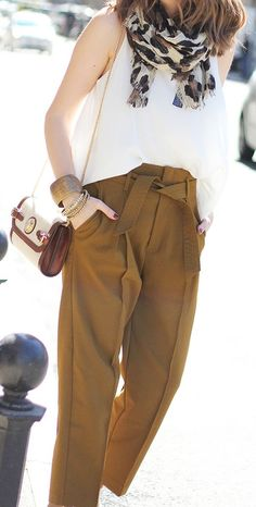Camel And White Chic Streetstyle by Fashion And Style