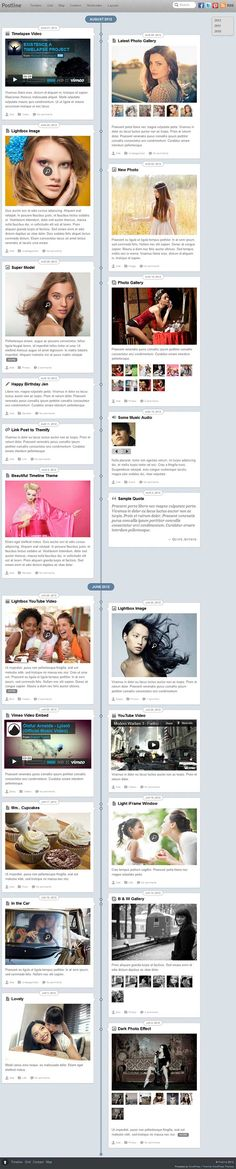 Post Line WordPress Theme is a responsive premium facebook timeline style blog WP theme from Themify