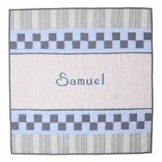 Art Name Quilt - Blue