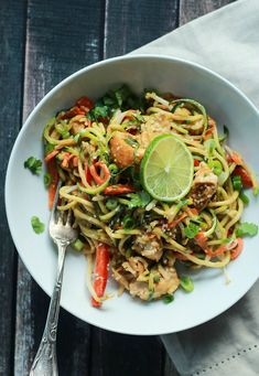 What's for dinner? Thai Chicken Zucchini Noodles.