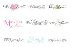 100 Logos including 38 fonts by Joanne Marie on @creativemarket