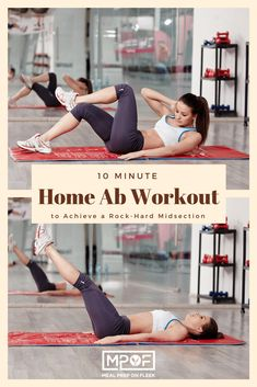 10 Minute Home Ab Workout - Through the 10-minute ab workout we are about to share with you, you'll be able to strengthen and build your core to aid in the process of getting that desired rock-hard midsection you've always wanted. #fitness #abworkout #homeworkout #workout