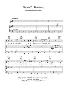 fly me to the moon piano sheet pdf