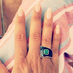 """""""#dezso #dezsobysb #emerald #sharktooth #ring #babybuddhaparis"""""""