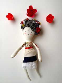 Hey, I found this really awesome Etsy listing at https://www.etsy.com/listing/121206749/frida-kahlo-art-doll-ooak-plush