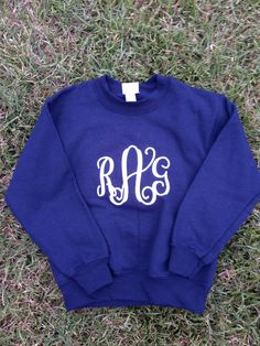 Smock Your Tot - Monogrammed or Appliqued Hoodless Sweat Shirts, $24.95 (http://www.smockyourtot.com/monogrammed-or-appliqued-hoodless-sweat-shirts/)
