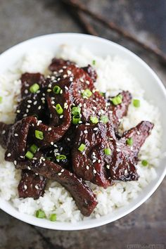 Copycat P.F. Chang's Mongolian Beef - use gluten free soy sauce