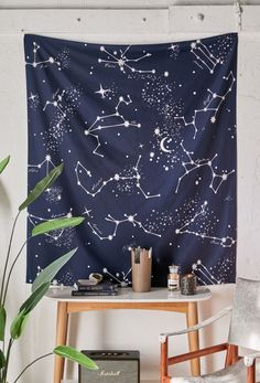 Kitchen Trends 2018, Constellation Tapestry, Life Kitchen, Zodiac Constellations, Aesthetic Room Decor, Tapestry Wall Hanging, Wall Hangings, Kid Beds, Tile Patterns