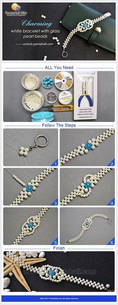 DIY bracelet with Pandahall Elite pearl beads