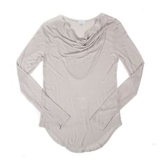 CLU Long Sleeve Scoop Neck Top - $60.00 - Made in USA
