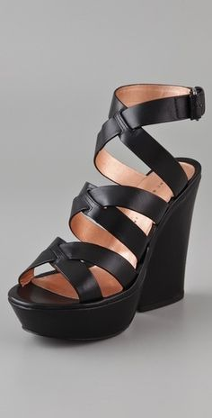 Marc by Marc Jacobs Crisscross Wedge Sandals - StyleSays