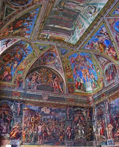 Room of Constantine (1517-1524) Vatican Museums, Raphael Frescoes, province of Roma Lazio