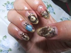 My own Alice nails with Sha nail pro stickers!