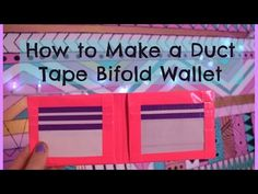 How to Make a Duct Tape Bifold Wallet - YouTube