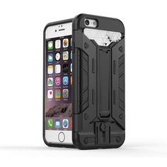 6S Case Hybrid Kickstand 2 in1 combo Bracket Stand + PC Back Cover Card Slot  Armor Case For Apple iPhone 6 6S Phone case