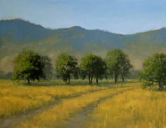 """Kathy O'Leary Fine Art: """"TEJON RANCH TRACK"""" oil painting"""