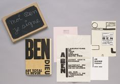 """Ben Vautier. Moi, Ben je signe. 1975  (First edition 1962-63). the artist. Artist's book with nineteen object collage additions. page  12 1/4 x 8 5/16"""" (31 x 21.2 cm). Collages and prints:  various dimensions.. Joanne M. Stern Fund. 159.1975.1-22. © 2016 Artists Rights Society (ARS), New York / ADAGP, Paris. Drawings and Prints"""