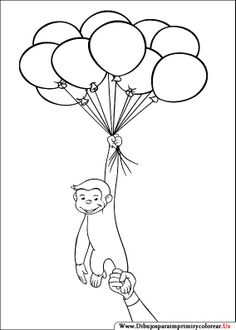 Worksheet. Curious George With Balloons Coloring Page  zzzCurious George