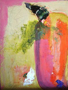 Original Painting Abstract zen texture on by cherylwasilowart