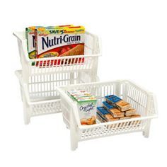The Container Store - Our Mini Stacking Basket--great to use for bulk items that are accessed frequently