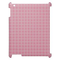Pink/white crosses and dots pattern iPad cover  Special colors for her. Trendy pink-style pattern. Have a glamorous case nobody can't notice. Stay cool!