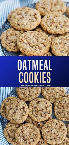 These soft and chewy Oatmeal Cookies are the BEST oatmeal cookies. They are easy… These soft and chewy Oatmeal Cookies are the BEST oatmeal cookies. They are easy to make and a family favorite. You can't go wrong with this classic oatmeal cookie recipe! Healthy Oatmeal Cookies, Oatmeal Cookie Recipes, Easy Cookie Recipes, Dessert Recipes, Lactation Cookies, Oatmeal Dessert, Oatmeal Cake, Oatmeal Pancakes, Cookies