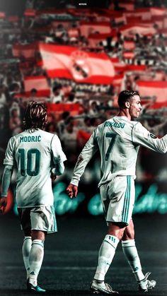 Luka Modric and Cristano World Best Football Player, Football Players, Uefa Champions Legue, Ronaldo Madrid, Ronaldo Celebration, Portugal National Football Team, Cristiano Ronaldo Junior, Real Madrid Wallpapers, Real Madrid Players