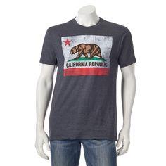 Men's Golden State California Flag Tee, Size: