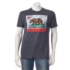 Men's Golden State California Flag Tee, Size: