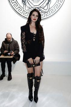 Lana Del Rey backstage at Versace.
