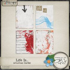 Life Is... - Journal Cards created to coordinate with my Life Is... - Fusion collection now available at Pickleberrypop!  Just click to download!