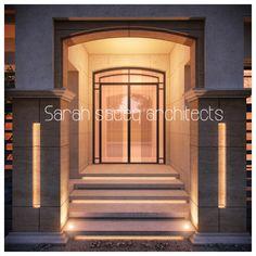 Main entrance 375 m private villa kuwait Sarah sadeq architects