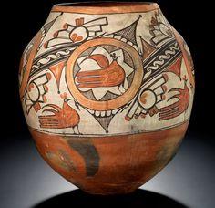 Rosalia Medina Toribio (Zia, 1858–1950), polychrome jar  ca. 1920–1929  Zia Pueblo, New Mexico  Clay, paint