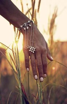 Hand chain - noted. My kind of wedding adornment :-)  paisley jane via Christa Jean Morin / Refined Style onto Treasure Chest