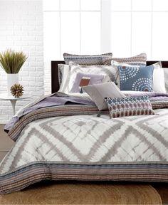 Echo Bedding, Tribal Blocks Comforter and Duvet Cover Sets - Duvet Covers - Bed & Bath - Macy's