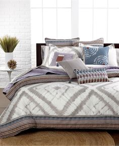 Echo Bedding, Tribal Blocks Comforter and Duvet Cover Sets - Duvet Covers - Bed & Bath - Macy's