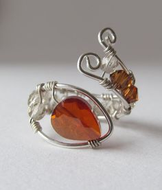 Citrine and Smoky Quartz Sterling Silver by TheBeadtiqueJewelry, $42.00