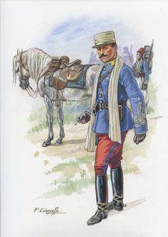 Capitán Tirallieurs Algeriens, 1914. Patrice Courcelle.